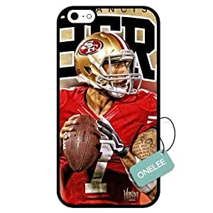 (TCustomized NFL San Francisco 49ers Colin Kaepernick PC Case For Iphone 5/5S CoverBlack 01