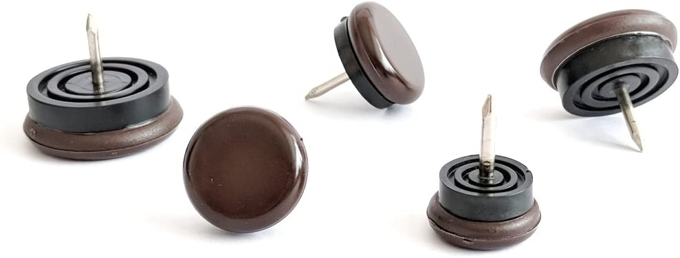 Nail-On Glides White, 30mm Diameter, Pack of 12 Furniture Sliders Range of Sizes Brown or White Made in Germany