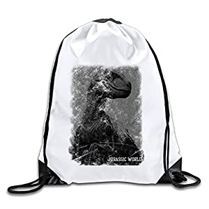 Acosoy Jurassic World Velociraptor Drawstring Backpacks/Bags