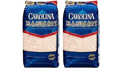 Carolina Naturally Fragrant Basmati Rice (Pack of 2) 2lb Bags by Carolina