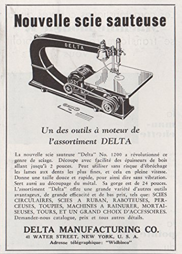 1935 Print Ad Jigsaw Circular Band Saws Delta Mfg Co NY Wood Working Macines (Jigsaw Band Saw)