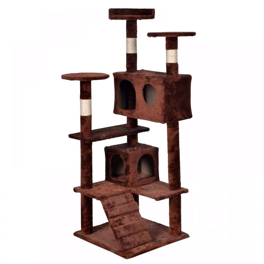 Anglo Angel BestPet Brown Cat Tree Tower Condo Furniture Scratch Post Kitty Pet House