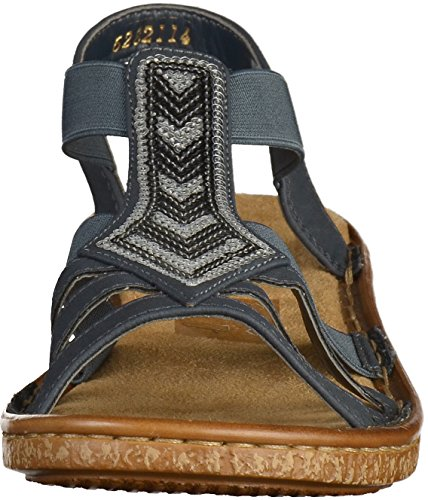 Blau York Rieker New Sandal Woman Pazifik vfwWBUTq