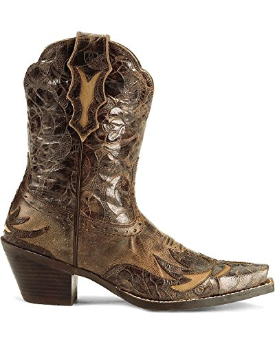 Ariat Womens Dahlia Wingtip Cowgirl Boot Snip Toe Brown 10 M US oVT6ly3