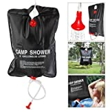 Marketworldcup Solar Shower Bag 5 Gallon Camping Outdoor Portable Large Mount Hanging Campers