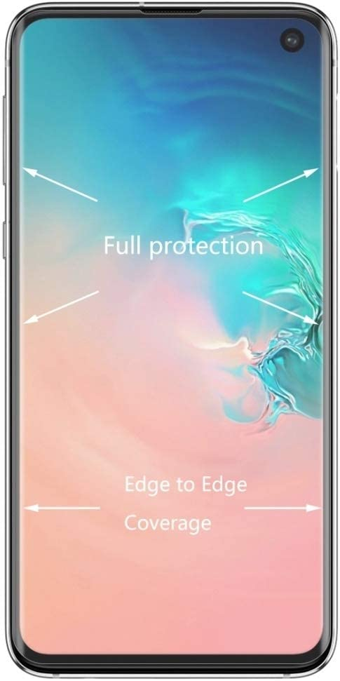 Transparent Screen Protector Protective 25 PCS Edge Glue 3D Curved Edge Full Screen Tempered Glass Film for Galaxy S10 Glass Film Color : Transparent