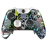 Cheap eXtremeRate Custom Skull Front Housing Shell Faceplate for Microsoft Xbox One Elite Controller with Thumbstick Accent Rings