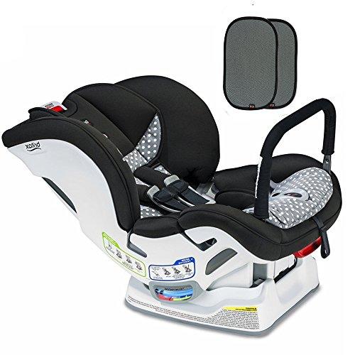Britax Marathon ClickTight ARB Convertible Car Seat, Ollie with E-Z Cling Sunshade Set