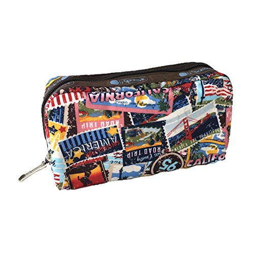 LeSportsac Rectangular Zip Cosmetic Case, Limited Edition American Stamp
