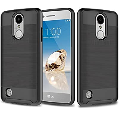 LG Aristo, LG K8 (2017), LG LV3, JATEN Minimalistic Design Hybrid Dual Layer [Slim Fit] Smooth Hard Cover with TPU Skin Case + Stylus Pen from JATEN