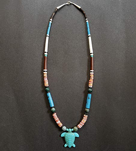 Fetish Turtle - Turtle with Graduated Heishi Beads Fetish Necklace