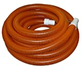 2'' x 50' Orange/Black I-Helix Commercial TM Vacuum Hose with White Cuffs