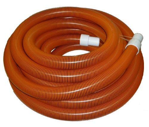 "2"" x 50' Orange/Black I-Helix Commercial TM Vacuum Hose with White Cuffs"