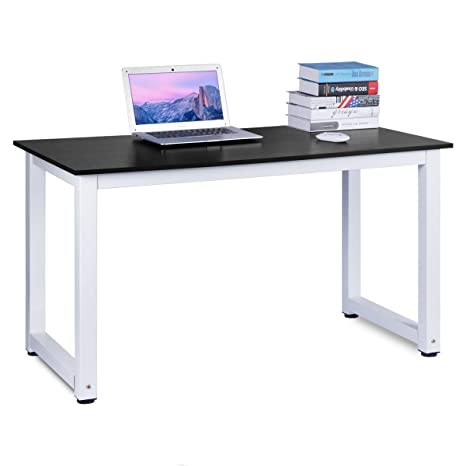 best service 08694 52c97 Computer Desk, DOSLEEPS Office Study Desk Computer PC Laptop Table  Workstation Dining Gaming Table for Home Office, Black Wood Grain