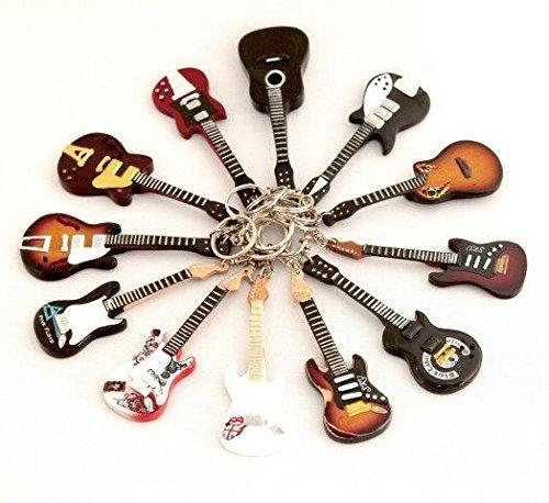 Portachiavi in Legno Forma Chitarra Angus Young DC AC