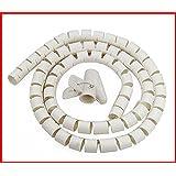 Outil Organisateur de Câbles fil bien rangé Kit De Zip Spirale Enveloppe Domicile PC TV Bureau Blanc ou Noir 2m
