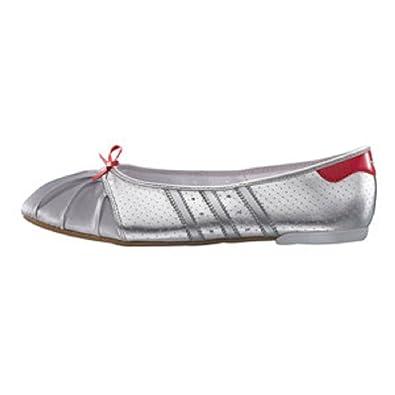 46f8ba058c1 Adidas Superstar Ballerina Silver Womens Ballet Pumps Dance Shoes (7 ...