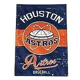 Rico Industries Houston Astros EG Vintage Retro 2-Sided Garden Flag Linen Banner Baseball
