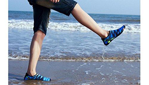 Aqua Dry Barefoot Quick Mens Shoes Womens Cloudless Water Socks Blue qTw7FS