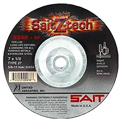 Sait 22634 Z24R 7X1/8X5/8-11 Z-Tech Tough Zirconium Pipeline Cutting
