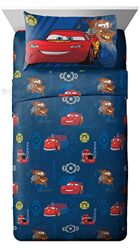 Disney Cars Hometown 3 Piece Twin Sheet Set ()