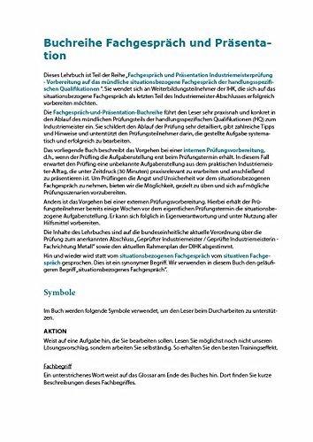 lehrbuchreihe fachgesprch und prsentation industriemeisterprfung birgit dickemann weber alexander amazonde bcher - Fachgesprach Industriemeister Metall Beispiele