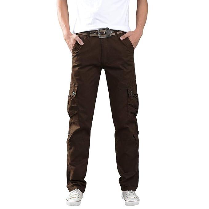 VonVonCo Pantalone Vaqueros Hombres Pantalones Militares ...