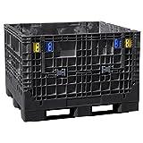Buckhorn BN4845252010000 Extra-Duty 48'' x 45'' x 25''  Collapsible Bulk Box, Black