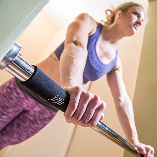 "j/fit Deluxe Doorway Pull Up Bar with Comfort Grips LONGEST LENGTH Pull Up BAR AVAILABLE 40"" WIDE. (Pull ups, Chin ups, Push ups, Sit ups, and Dips!)"