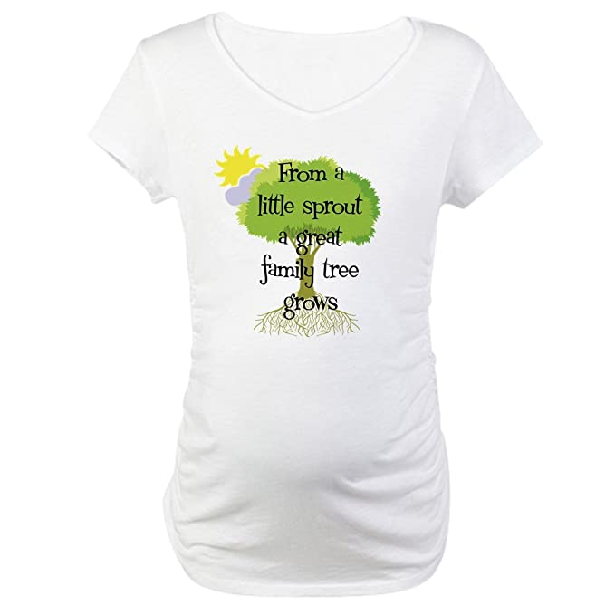 9aa07b333 CafePress Little Sprout Maternity T-Shirt Cotton Maternity T-Shirt, Cute &  Funny