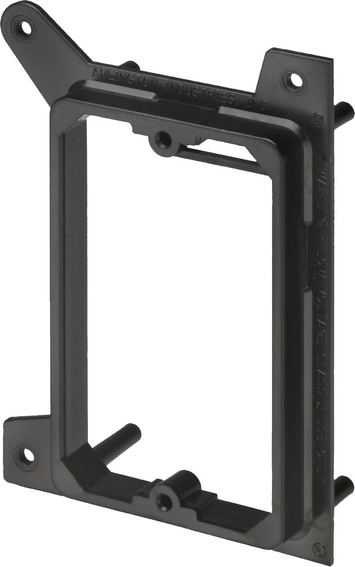 Arlington Industries LVH1 1-Gang Low Voltage Mounting Bracket for New Construction, 50-Pack