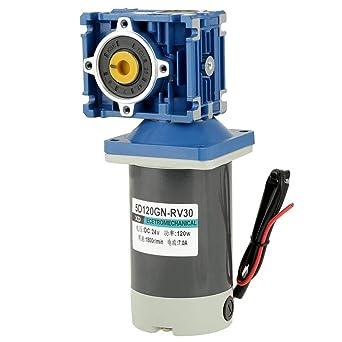 Motorreductor, DC 12V / 24V 120W RV30 Motor de engranaje helicoidal velocidad ajustable CW/