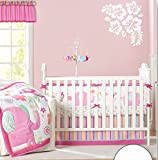 Baby Girl's Pink Elephant Crib Bedding 4pcs set Baby Bedding Set With Diaper bag