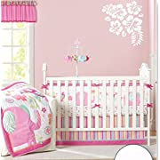Baby Girl's Pink Elephant Crib Bedding 9pcs set Baby Bedding Set With Diaper bag …