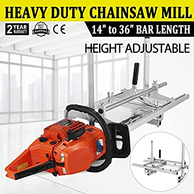 """Morocca Chainsaw Mill 14""""-36"""" Portable Chain Saw Mill Aluminum Steel Planking Lumber"""