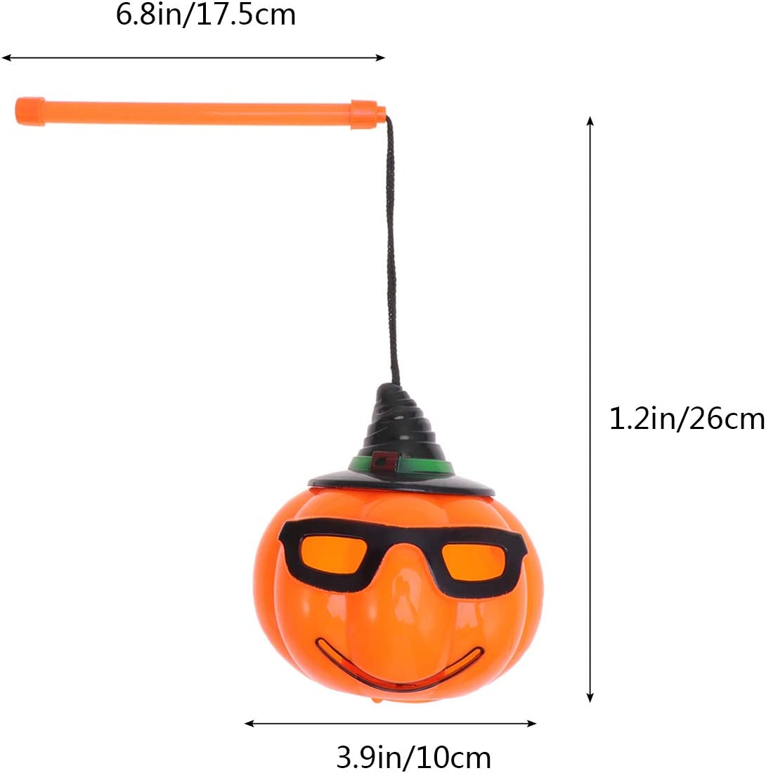 Halloween Handheld Pumpkin Lanterns Sound-Activated Portable Flashing Light Props Party Supplies for Kids Party Favor 2PCS