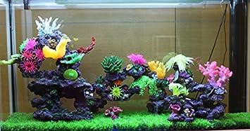 Y.Dick Pecera Acuario Marino ajardinadas decoradas Chen pared resina Coral gran pecera, Paquete