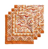 Maison d' Hermine Palatial Paisley 100% Cotton Set of 4 Napkins 20 Inch by 20 Inch.