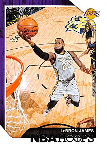2018-19 NBA Hoops Basketball #82 LeBron James Los Angeles Lakers Official Trading Card made by Panini