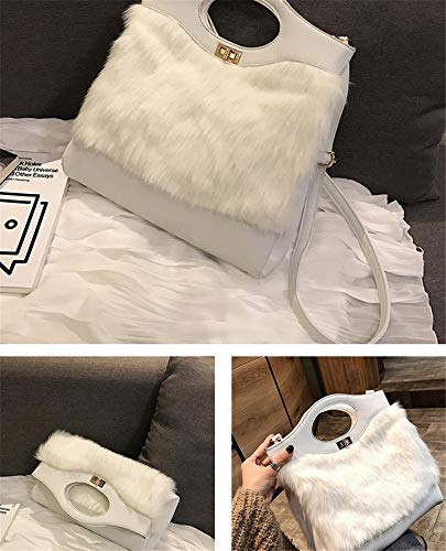 Fashion blanc et simple à noir Sac bandoulière Furry's B0HdqB