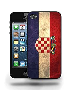 Croatia National Vintage Flag Phone Case Cover Designs for iPhone 4