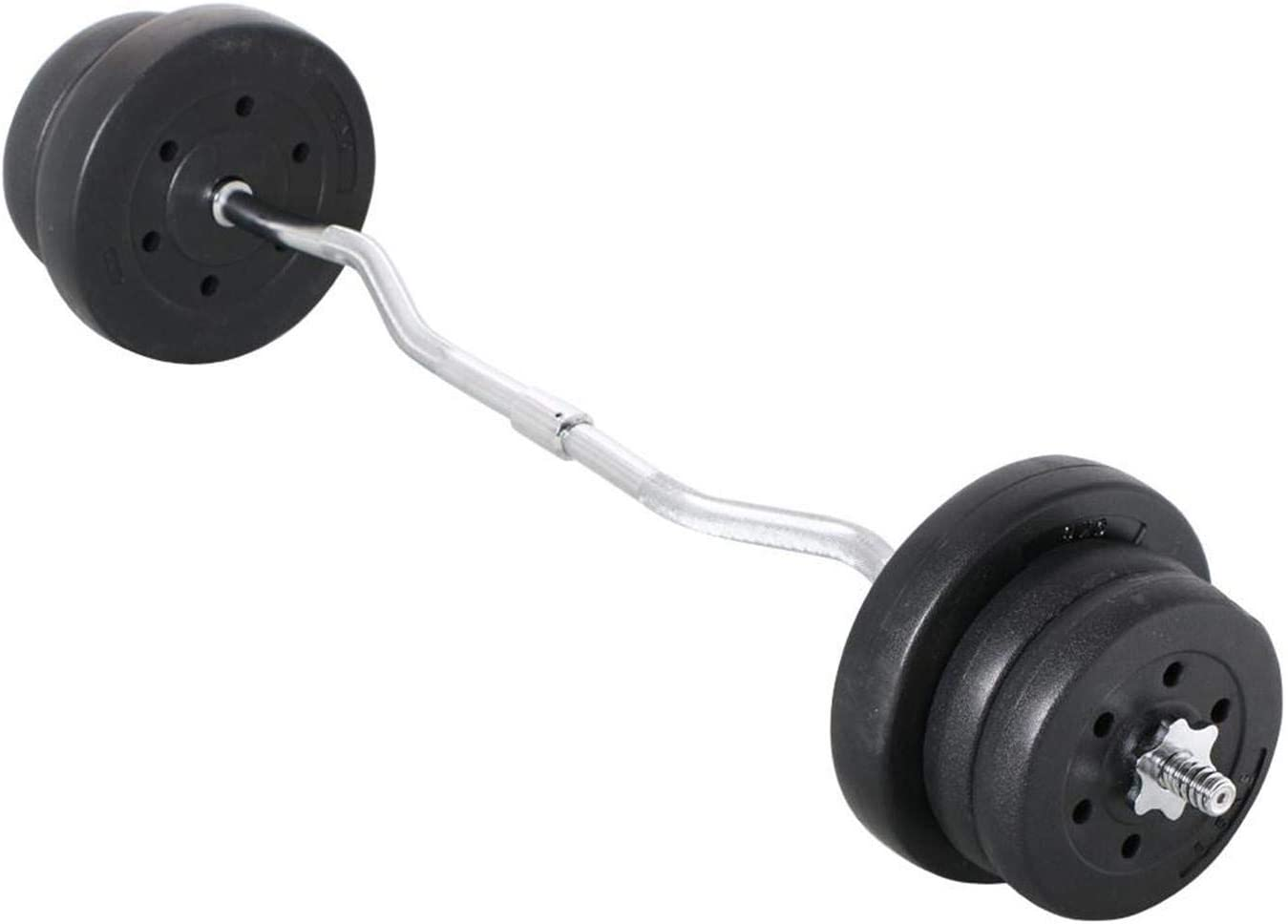 Amazon Com Yaheetech 55lb Olympic Barbell Dumbbell Weight Set Gym Lifting Exercise Workout Olympic Bar Curl Bar Sports Outdoors