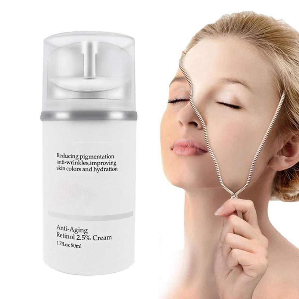 Retinol 2.5% Cream Face Moisturing 50mL, Anti-Aging, Defense Against Breakouts, and Deep Hydration