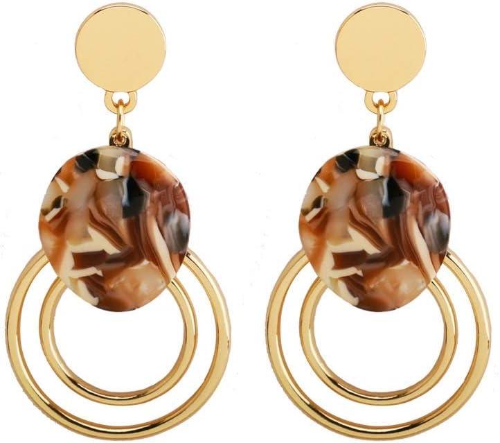 Pendientes de la vendimia de Gloden circular retro cadena Declaración de los pendientes de aro pequeño geométrica pendientes pendientes de las mujeres, del oído / accesorios de vestir, joyería for el