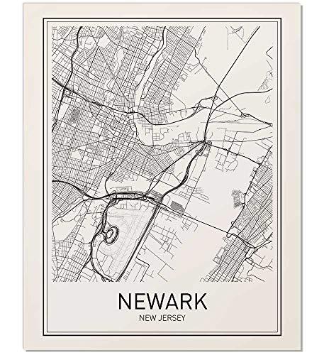 Newark Poster, Newark Map, Map of Newark, City Map Posters, Modern Map Art, City Prints, Unframed Art, Minimal Print, Map Poster, City Poster, City Map Wall Art, Minimalist Posters, 8x10