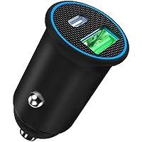 USB C Car Charger, ZHAM Super Mini All Metal 60W(max) Fast Car Charger, PD 60W + QC4.0 30W Dual Port Car Adapter…