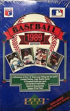 1989 Upper Deck High Series MLB Baseball box (Deck Upper Series Mlb)