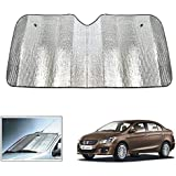 UNIQOUTLET Front and Rear Foldable Metal Car Sunshade (Silver) -2 Pieces
