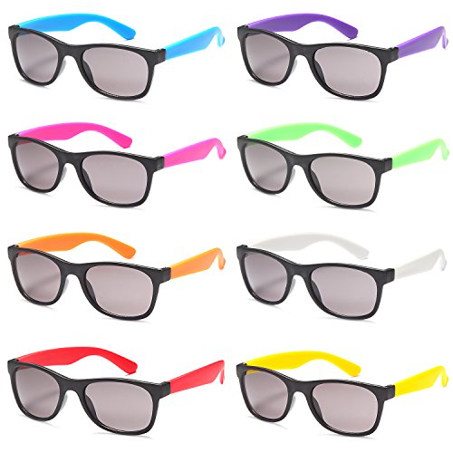 ALTEC VISION Super 8 Pairs of UV400 Multi Pack Sunglasses Classic Colorful Fashion - 80s Sunglasses