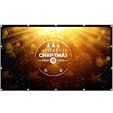 Projector Screen 180 Inch 16:9, Outdoor Portable Movie Screen Support Front and Rear Projection